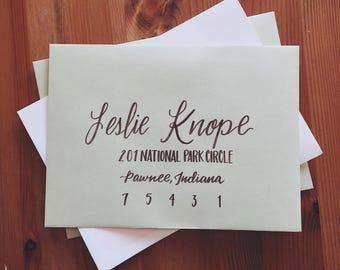 Hand Addressed Hand Lettered Envelopes - Custom Calligraphy