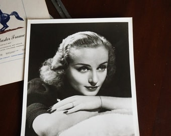 Carole Lombard Studio glossy/ Carole Lombard Photograph/ Hollywood's Golden Age/  Actress/ Vintage Black and White Photograph/ Headshot