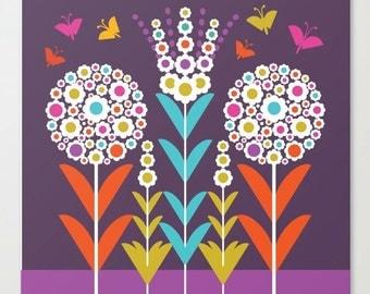 Pom Pom Flowers Art Print