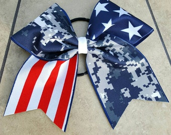 SALE!!! Digital Camo and Americana Softball/Cheer Bow