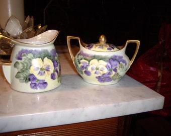 8 pcs. RS Germany Handpainted Porcelain