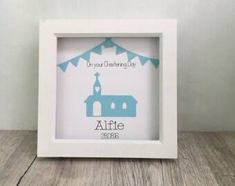 Handmade personalised Christening gift // Christening frame // home decor // wall art