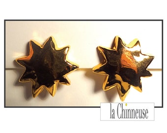 CHRISTIAN LACROIX EARRINGS / Christian Lacroix clip earrings / french Vintage Christian Lacroix Jewel / Gift for her.