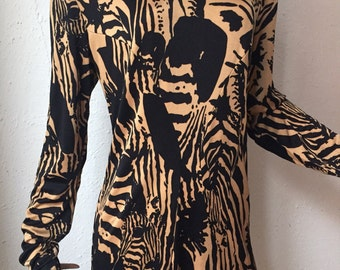 Tissus Leonard, vintage zebra dress