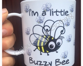Personalised Children's Polymer 'I'm a Little Buzzy Bee Mug'