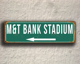 MandT Bank STADIUM Sign, Vintage style M and T Bank Stadium Signs, M and T Bank Stadium Sign, Baltimore Ravens, Football Gifts