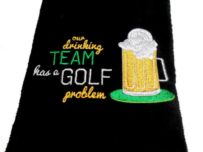 Golf Towel Funny Personalize Golfer Gift For Him