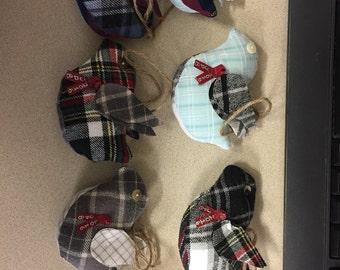 Stuffed Bird Memory Ornaments