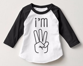 Toddler 3 Year Old  Birthday Shirt Gift Shirt Unisex Cute Shirt Gift For Baby