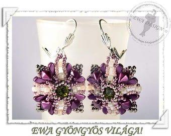 Anda beaded earrings PDF pattern