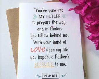 Psalm 139:5 - Graduation Card - Psalm 139 - Psalms - Future - Prepare the Way - Scripture - Verse - Blessing - Adventure Card - Grad - Dream