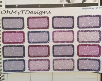 Purple Glitter Half Boxes