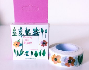Spring flower washi tape