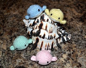Two Amigurumi Crochet Whale Plush Toy Kawaii Plush Whale Nursery Decor Gift Under 25 Stuffed Animal Whale Plushie Whale Doll Toy