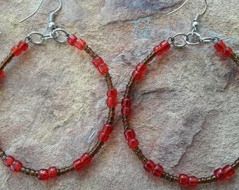 Big hoop earrings simple jewellery simple earrings gift birthday gift mother dance party bridesmaid wedding light earrings big earrings prom
