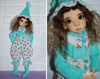 OOAK Layla Fair Elf by Kaye Wiggs BJD MSD doll fullset (with my faceup, wig and outfit)