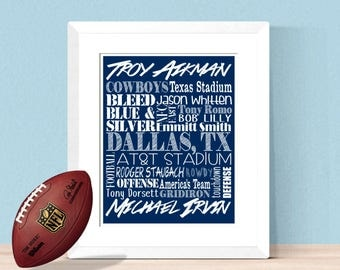 dallas cowboys bedroom decor.  Dallas cowboys decor Etsy
