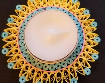 Sunburst Filigree Paper Tealight Holder