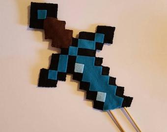 Minecraft cake topper Etsy UK