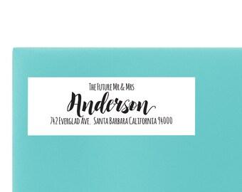 Wedding Return Address Label, Wedding Return Address Label Stickers, Personalized Wedding Return Label #2