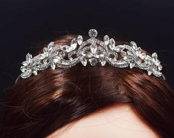 Wedding Tiara, Wedding Crown, Crystal Bridal Crown, Crown Hair Accessory for Wedding 7