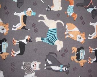 Fabric Fat Quarters 100% cotton dogs: Labrador - Beagle - Bouledogs - Maltese - Dachshund - Dalmatian etc...