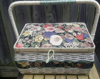 Vintage Sewing Storage Basket
