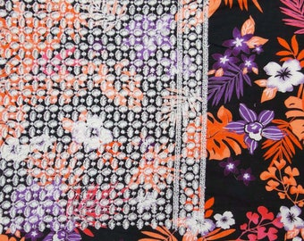 """Indian Decorative Fabric, Embroidery Fabric, Floral Print, Upholstery Fabric, Sewing Decor, 40"""" Inch Cotton Fabric By The Yard ZBC7654A"""