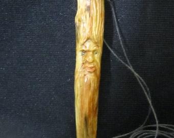 Jewelry Wood Spirit necklace Carving Pendant Wood Carving OOAK Robert Raikes Original