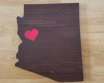 Reclaimed Arizona Sign, Wood Arizona Sign, Rustic Home Decor, Reclaimed Wood Sign