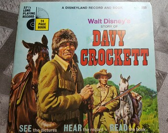 Walt Disney's Story of Davy Crockett Record and Book