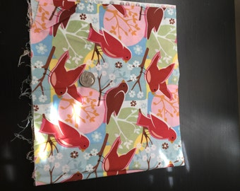 red birds fabric