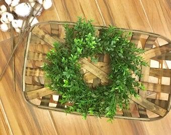 Boxwood wreath, farmhouse wreath, faux boxwood wreath