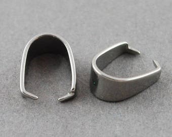 100 Pcs Stainless Steel Pinch Bail 13 mm | Stainless Steel Bail | Pinch Clasp | Bail | Ice Pick Bail| Pinch Clasps | Bail | 0142