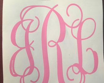 Monogram Car Decal DIFFERENT SIZES