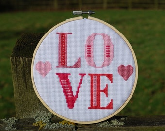 LOVE Cross Stitch Embroidery