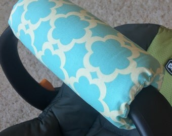 Kumari Garden Tarika Blue Arm Pad for Infant Car Seat Handle, Aqua Arm Pad, Mint Blue Arm Pad, Car Seat Handle Cushion, Car Seat Arm Cushion