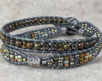 All That Glitters Double Wrap Beaded Bracelet