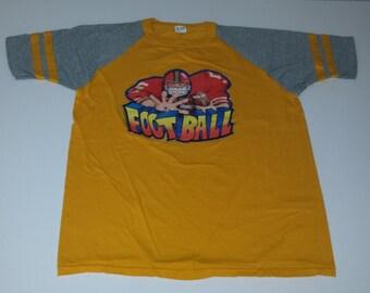 Vintage Sportswear Football Glitter Decal Raglan Tshirt size L