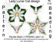 Chamomiles patterns, Stars Peyote pattern, Spring patterns, Flowers pattern, Geometric patterns, Peyote stitch, Beading patterns, Seed beads