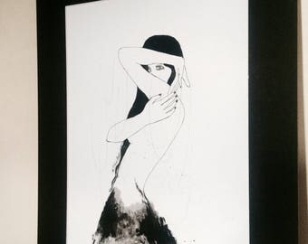 Ink drawing , Ink Art