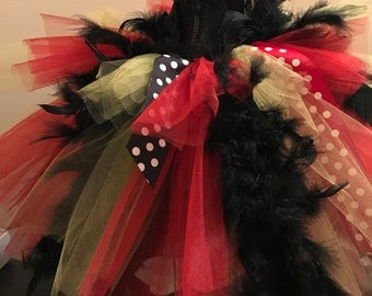 Girls custom feather tutu