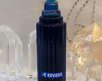 Worth, Je Reviens, 65 ml. or 2.28 oz. Flacon, Pure Parfum Extrait, Lalique, 1932, Paris, France ..