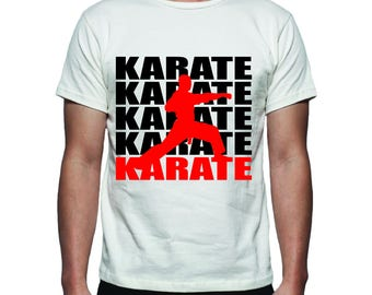 Karate Tee Shirt Design, SVG, DXF, EPS Vector files for use with Cricut or Silhouette Vinyl Cutting Machines