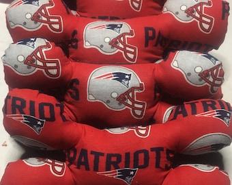 New England Patriots Print Bone Shaped Squeak Dog Toy