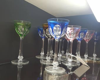 Set of Moser colored glasses - 9