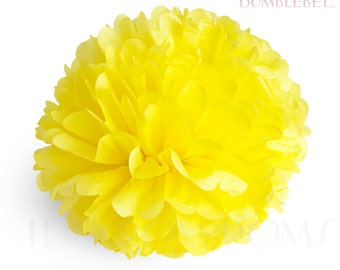 Bumblebee Yellow Tissue Paper Pom Poms - Wedding Party Decorations - Baby shower Decorations