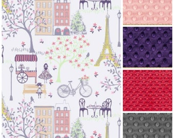 Paris Blanket,Baby Girl Blanket,Paris Baby Blanket,Paris Minky Blanket,Eiffel Tower Blanket,baby Blanket,Adult Minky Blanket,Minky Throw,Lap