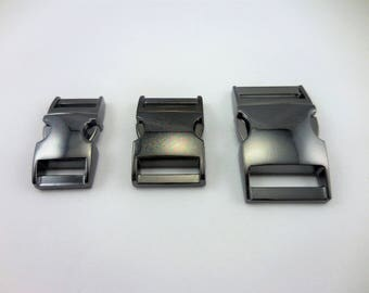 2-4pcs - Gun Metal Side Release Buckles for your Paracord Needs