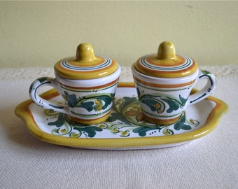 Vintage Coffee Serving set/Vintage ceramic coffee set/ Set for coffee/Espresso Serving set/Set for two/Vintage tableware/Italian ceramic